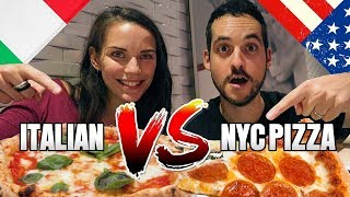 DO REAL Italians Like NYC Pizza? (Neapolitan vs NYC Pizza !)