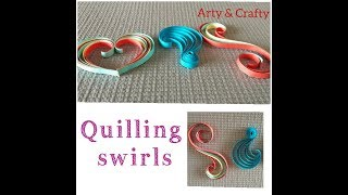 Quilling  Swirls  Tutorial# Paper Quilling#  3 Swirls# Basic#shapes