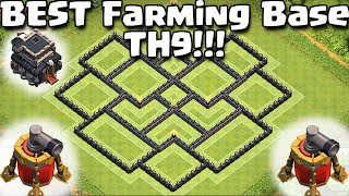 Clash of Clans -*NEW* Air Sweeper BEST Townhall 9 (TH9) Farming BASE! New Update -2nd Air Sweeper!