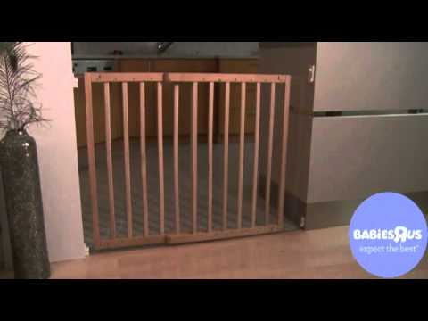Babies R Us Wooden Extending Gate Youtube