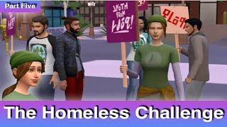 The Sims 4: Homeless Challenge // Spreading Awareness (Part 5)