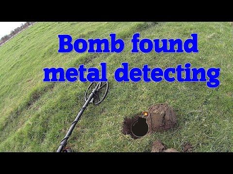 Metal detecting UK, oh crap I just dug up a live bomb metal detecting!