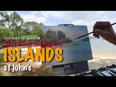 Sketching Singapore – St John's Island