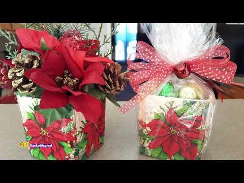 DOLLAR TREE DIY CHRISTMAS GIFT IDEA & DECOR | MOD PODGE NAPKINS