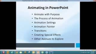 Animation Text in PowerPoint Presentation