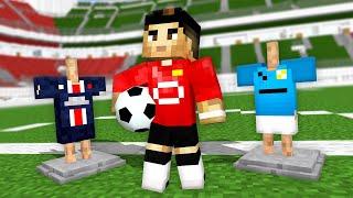 Monster School: Cristiano Ronaldo Back in Manchester United FootBall Challenge - Minecraft Animation
