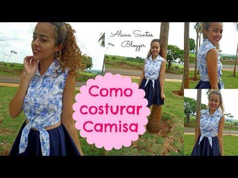 Como costurar Camisa Vintage pin up Alana Santos Blogger