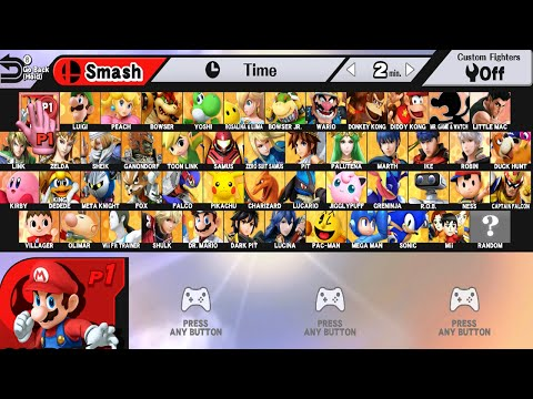 Super Smash Bros WII U All Characters And Alternate Costumes / Colors WII U