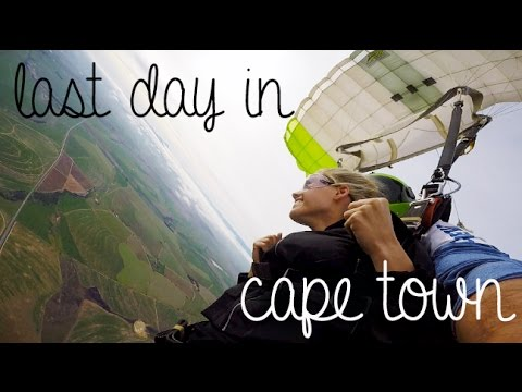 Skydiving & Last Day in Cape Town