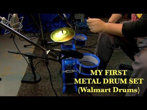 My First Metal Drum Set Walmart Drums Youtube