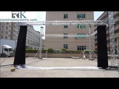 Aluminum motorize stage curtain,aluminum spigot light truss system,aluminum stage truss