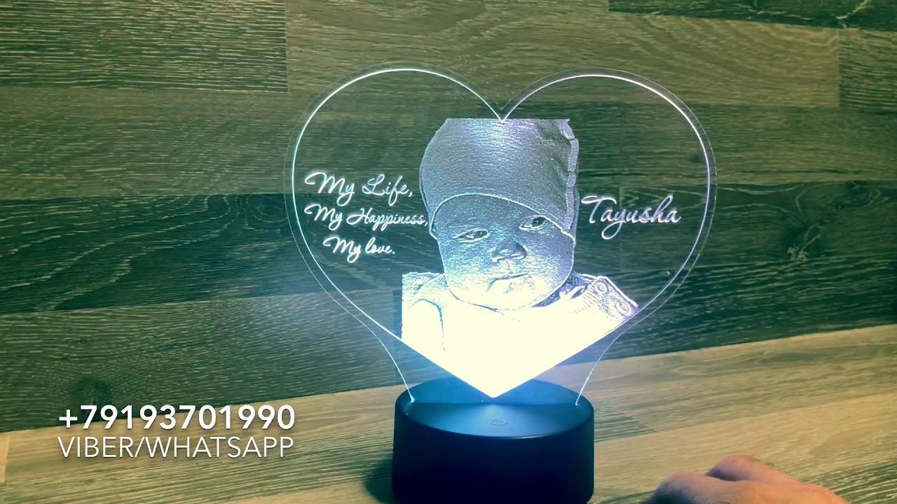 Светодиодный светильник с фото - YouTube