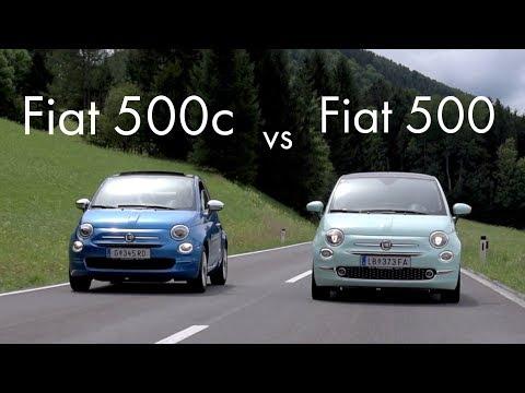 Vergleich Fiat 500c vs Fiat 500 2017