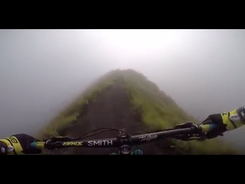 Riding down Mount Batur Volcano in Bali