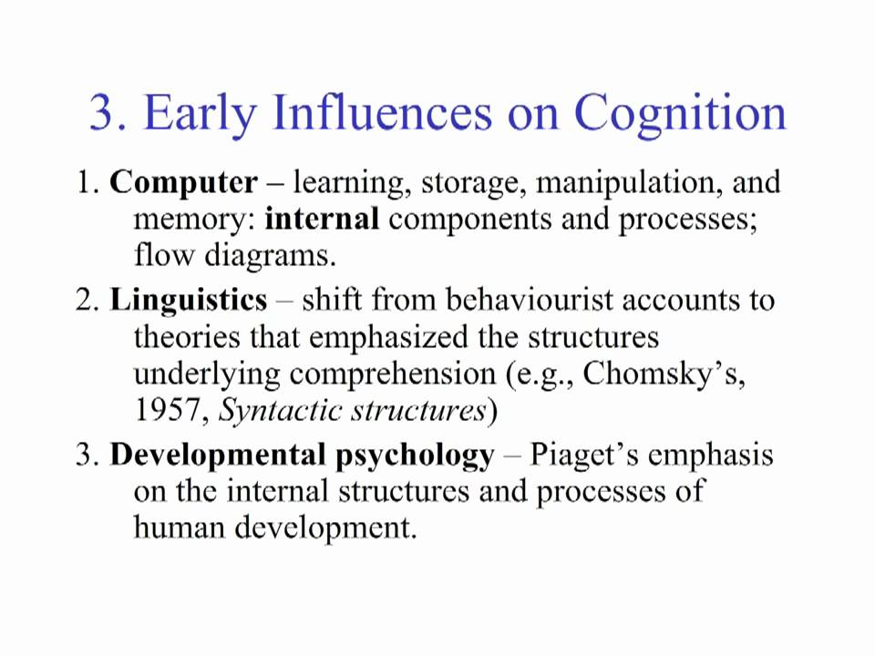 A Brief History Of Cognitive Psychology Youtube