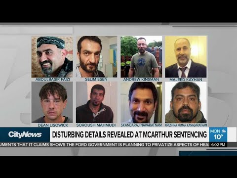 Disturbing details revealed at McArthur sentencing