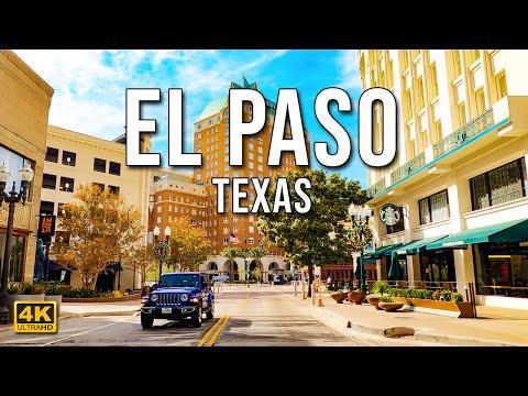 El Paso Texas | Downtown El Paso | Driving Downtown [4K ]