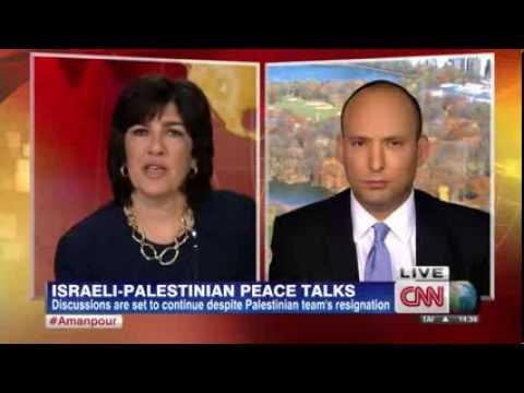 """רגע טלוויזיוני נדיר (ללא תרגום) - בנט ב-CNN:""""אין שטח כבוש, חיינו בארץ 2000 שנה"""""""