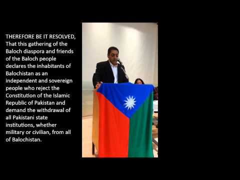 Declaration of Independence for a Sovereign Balochistan