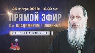 Ответы на вопросы в прямом эфире от 25.11.2018 (прот. Владимир Головин)
