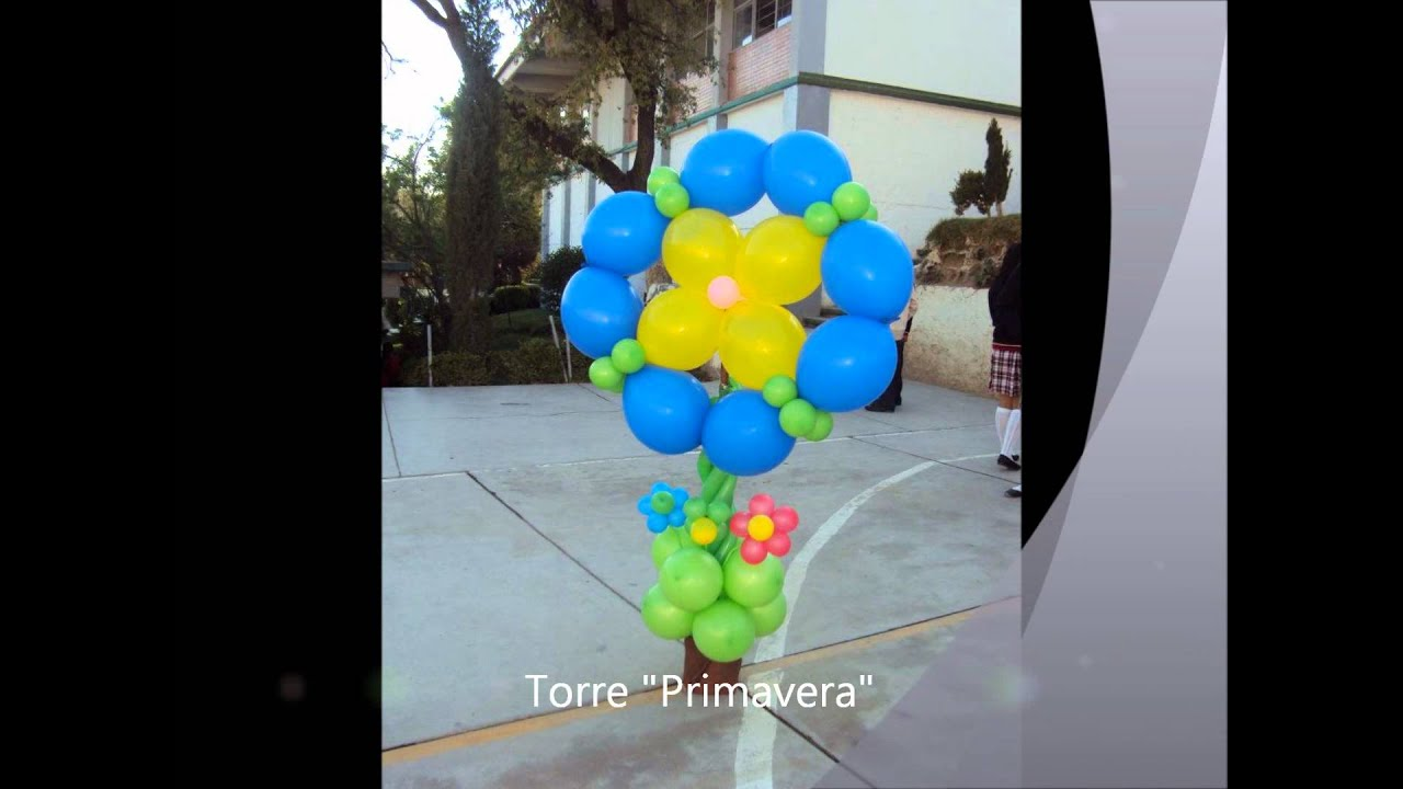 Decoraci n de globos para youtube - Decoracion de primavera ...