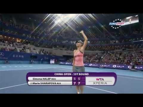 Sharapova vs Halep Highlights