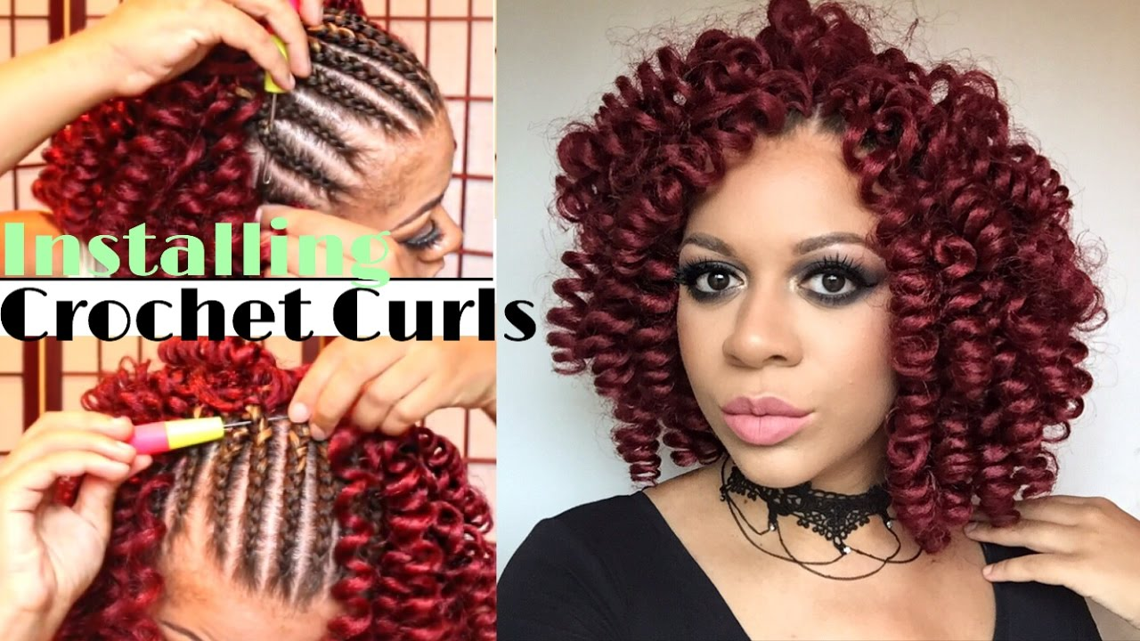 How To Install Knotless Crochet Curls  Crochet For Beginners!