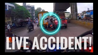 #99 Live Accident Caught on GoPro Camera | Mumbai India | Close call | Duke390