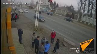 Массовая драка в Кыргызстане — видео с камеры наблюдения
