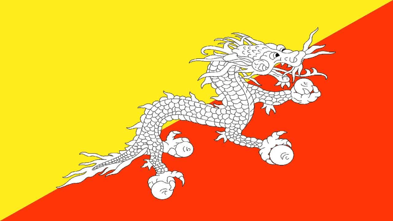 Bandera e Himno Nacional de Butn  Flag and National Anthem of