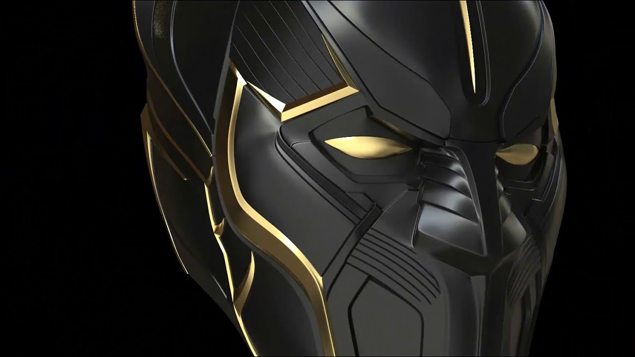 t'chaka black panther movie helmet 3d printable model print file stl  printing cosplay costume prop