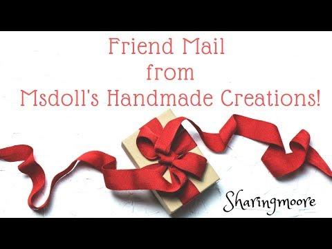 Surprise Friend Mail From LaSonya @Msdoll's Handmade Creations ~ Feb 2020 {Sharingmoore}
