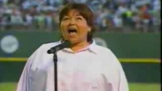 Rosanne Singing National Anthem