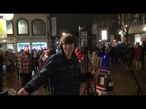 Jared Hanrahan Playing At Faneuil Hall During The Holidays