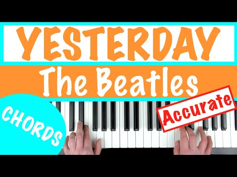 How To Play 'YESTERDAY' - The Beatles | Piano Chords Tutorial