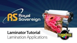 Lamination Tutorial: Royal Sovereign RSC-1401CLTW - All Graphic Supplies