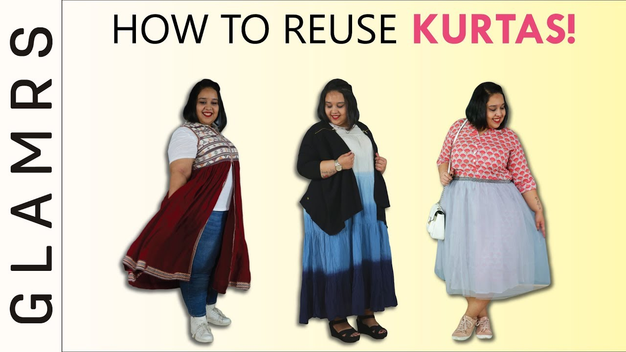 How To Reuse Kurtas/ Kurtis for Indo Western Look - Styling Tips | Plus  Size Fashion Tricks
