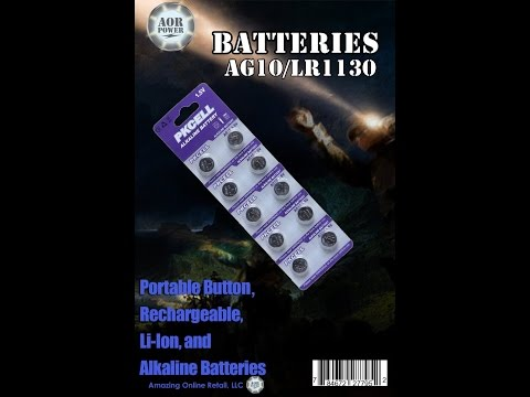 AOR Power (TM) AG10 Alkaline Button Cell Battery