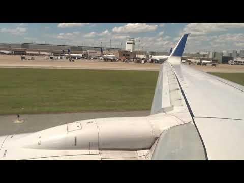 United Airlines B737-800 Taxi & Takeoff From Houston Bush Airport (IAH) + Terminal E Spotting