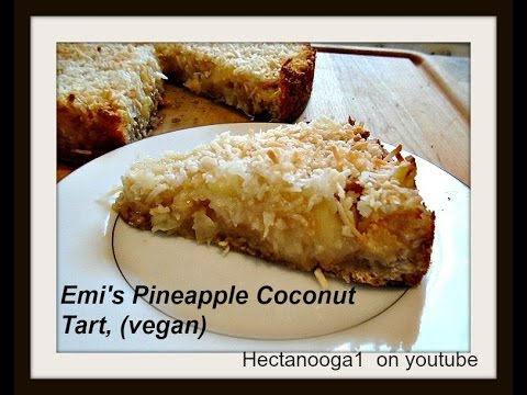 PINEAPPLE COCONUT TART, squares, bars, recipe, vegan, (diy brown sugar)
