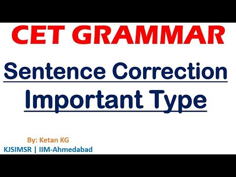 CET Grammar Sentence Correction Important Type