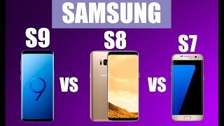 Сравнение SAMSUNG Galaxy S7, S8, S9