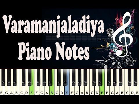 Varamanjaladiya (pranayavarnangal) Piano Notes - Music Sheet