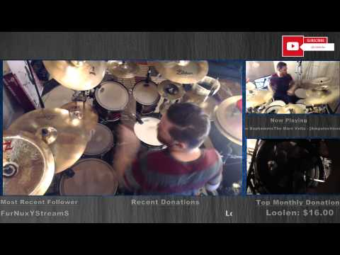 Twitch Streaming DRUMS Live! 10 mics, 3 cams. Mars Volta - Day of the Baphomets teaser!