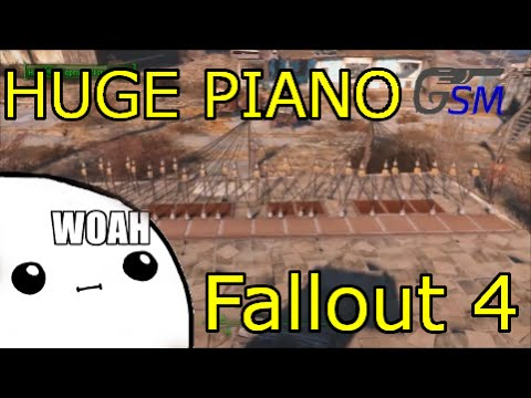Giant Powered Speaker Piano! Fallout 4