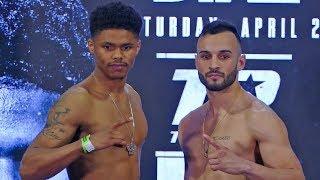 Shakur Stevenson vs. Christopher Diaz WEIGH IN & FINAL FACE OFF | Top Rank Boxing
