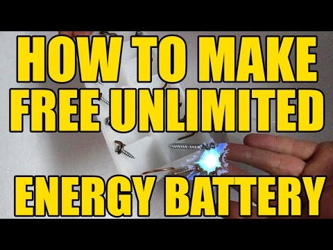 How to make - Battery with Unlimited Free Energy | Light | Sample and Easy