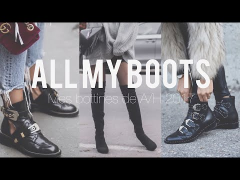 ALL MY BOOTS / Mes bottines de l'automne/hiver 2017