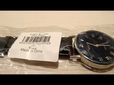 GENEVA Fashion Grid Pattern Dial Unisex Quartz Watch  -  BLACK from gearbest