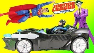 Justice League Action Twin Blast Batmobile Joker & Superman Imaginext Adventure